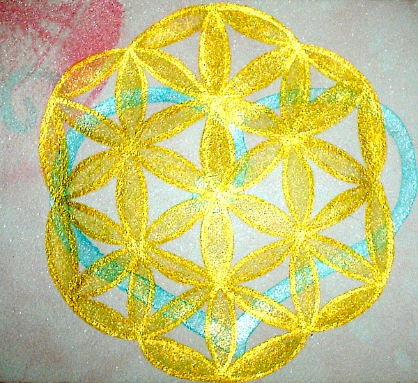 Sacred Geometry Painting - Seed Of Life by Chandelle Hazen