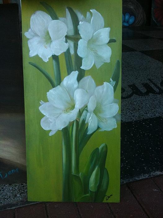 Lily Flower Painting - Seeking Light by Dana Redfern