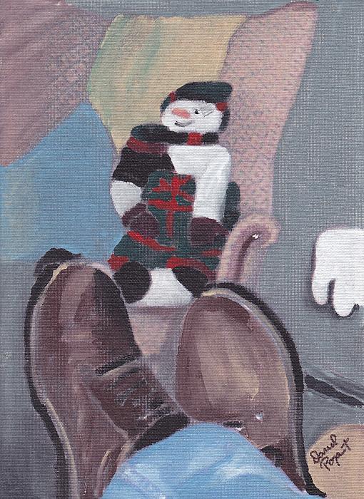 Portrait Painting - Self Portrait by David Poyant