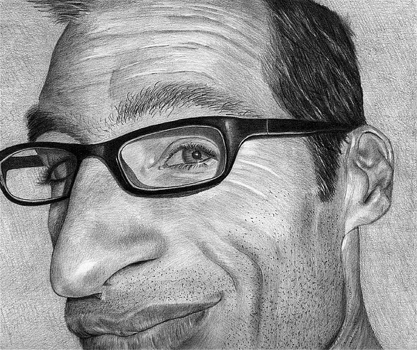 Portraits Drawing - Self Portrait by Eric Harrison