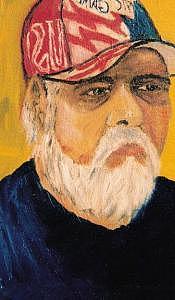 Self Painting - Self Portrait In Ball Cap by Steve  Hightower