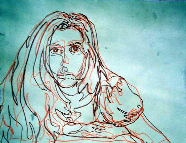 Self-portrait Drawing by Kaley LaRose