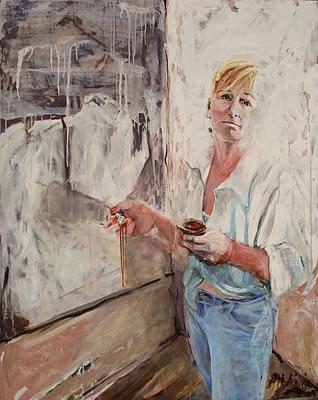 Portrait Painting - Self Portrait by Michelle Winnie