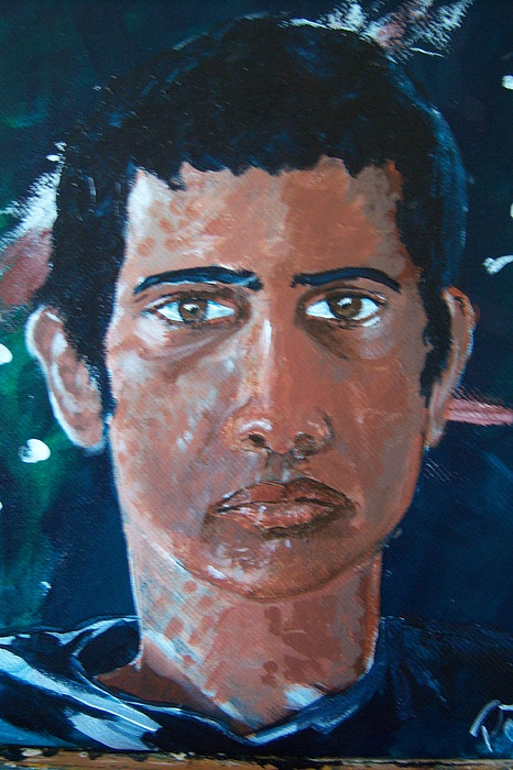 Self Portrait-revised Painting by Harminder Paul