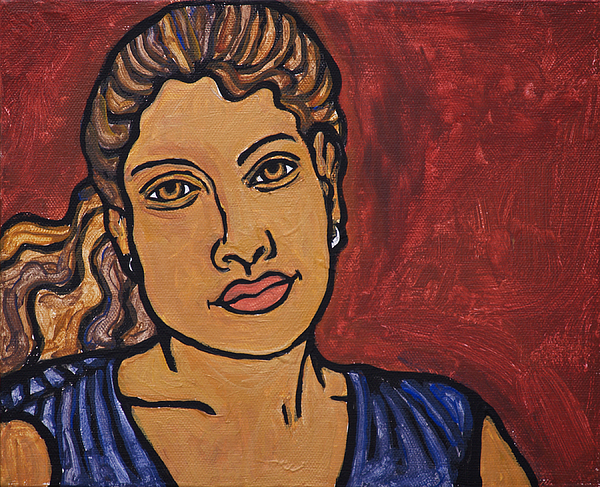 Woman Painting - Self-portrait by Sarita Role Schaffer