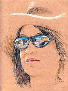 Portrait Painting - Self Portrait by Tina Siddiqui