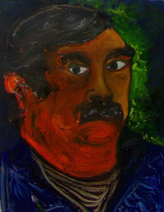 Selfportrait Painting - Selfportrait by Serge Verwest