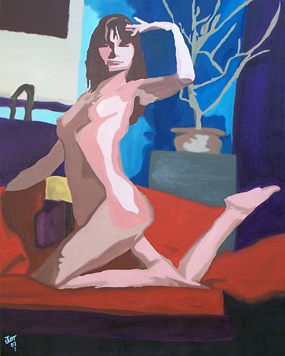 Nude Painting - Senora Del Dia Y La Noche by Hector Olvera