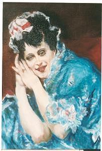 Portrait Of Girl Painting - Senorita by Gerald Wolfert
