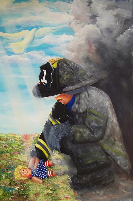 Portrait Painting - September 11th by Joni McPherson