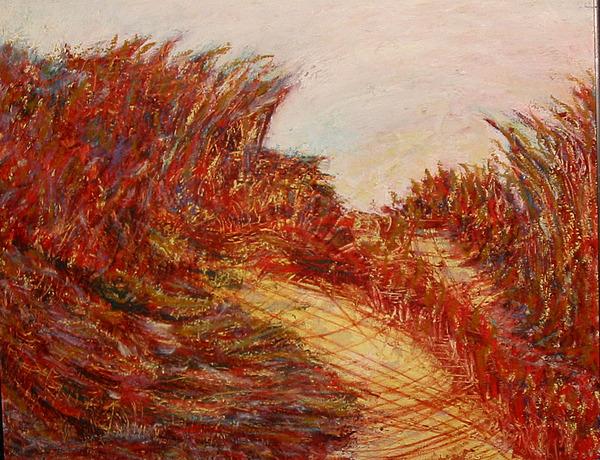Landscape Painting - September Dunes by Patricia Obletz