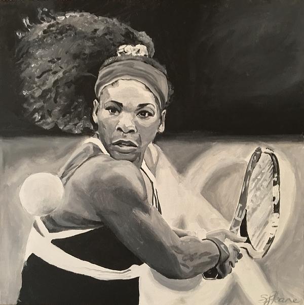 Serena Painting - Serena Williams by Sarah LaRose Kane