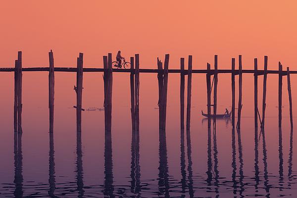 Amarapura Photograph - Serene Dawn by Marji Lang