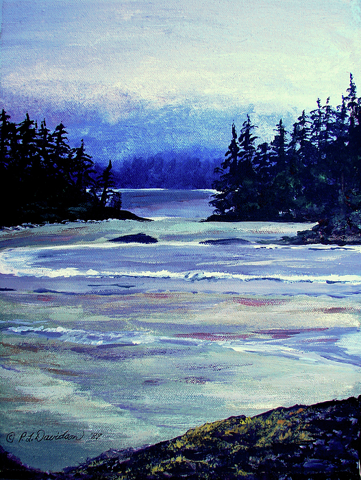 Serene Ocean View Painting by Patricia L Davidson