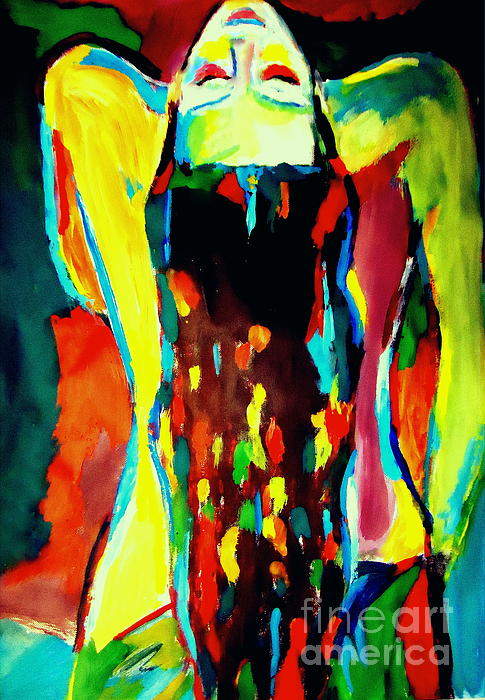 Nude Figures Painting - Serenity by Helena Wierzbicki