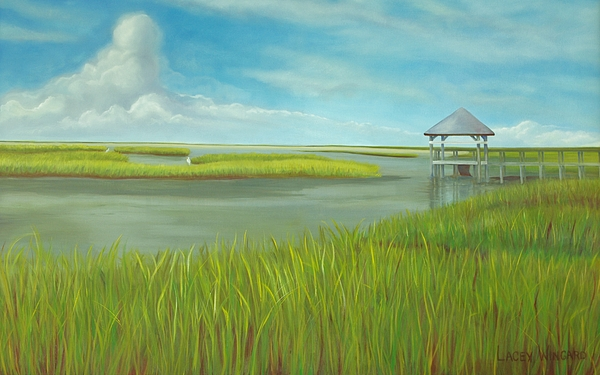 Intracoastal Painting - Serenity by Lacey Wingard