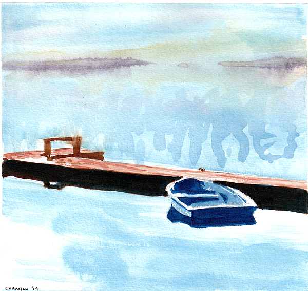 Watercolor Painting - Serenity On The Lake by Kerry Hartjen