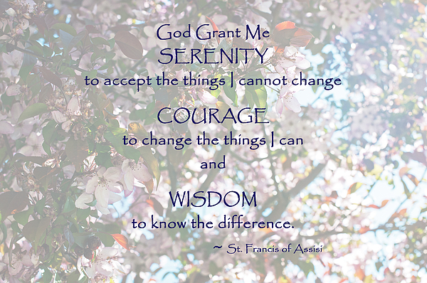 Serenity Photograph - Serenity Prayer by Edward Congdon