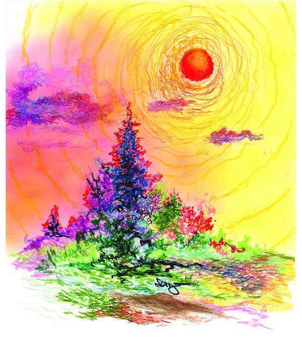 Serenity Drawing by William Vanya