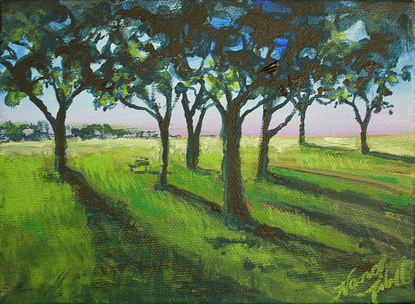 Trees Painting - Seven Trees by Michele Hollister - for Nancy Asbell
