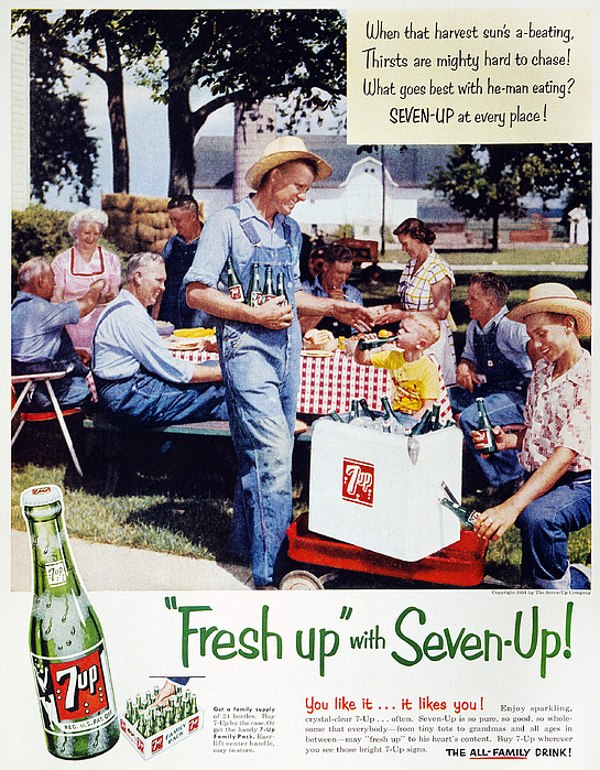 Domestic Photograph - Seven-up Soda Ad, 1954 by Granger