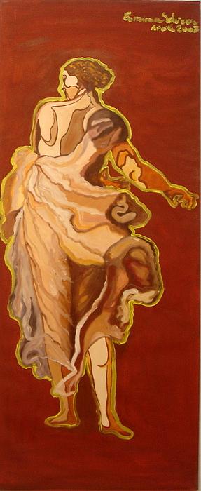 Figurative Painting - Seventeenth Portrait by Erminia Schirru