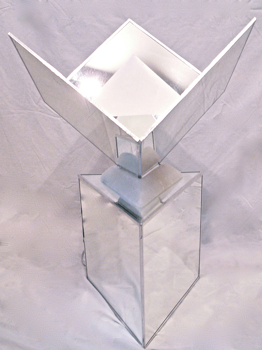 Sacred Geometry Sculpture - Seventh Chakra Sahasrara Crown Front View by Frank Pasquill