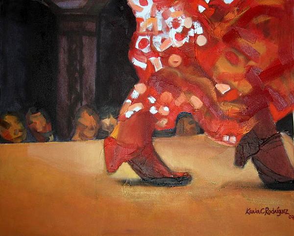 Dancer Painting - Sevillana by Karla Cecilia Rodriguez