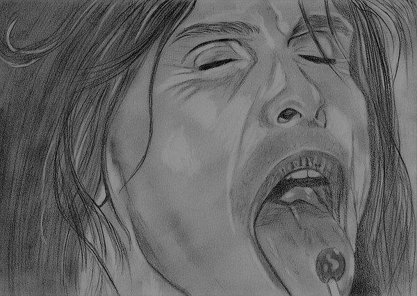 Sexy Steven Tyler Portrait Drawing by Jeepee Aero
