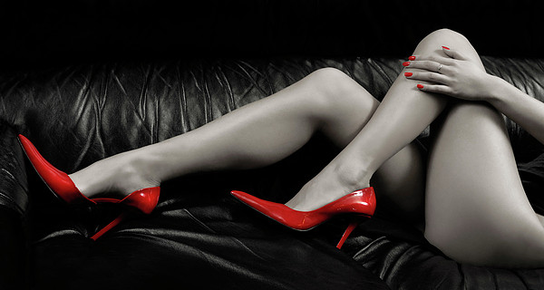 Legs Photograph - Sexy Woman Legs In Red High Heels by Oleksiy Maksymenko