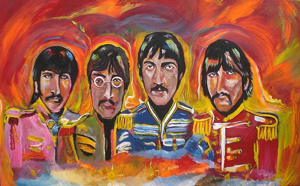 The Beatles Painting - Sgt Pepper by Colin O neill