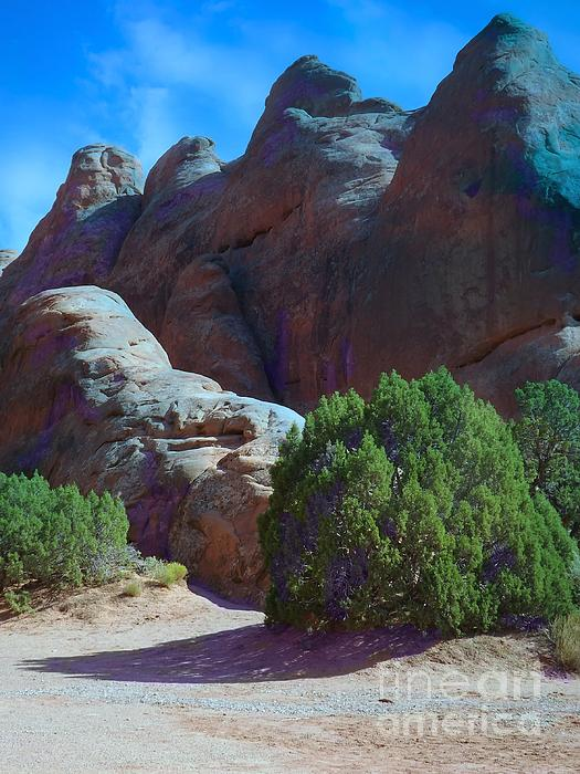 Arches National Monument Digital Art - Shade Becomes Precious by Annie Gibbons