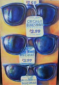 Blues Music Painting - Shady Deal by Brett Caplinger