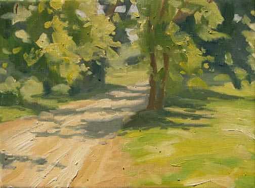 Michigan Painting - Shady Lane -- Plein Air Field Study by Margie Guyot