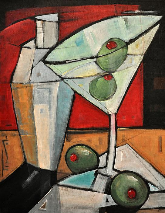 Martini Painting - Shaken Not Stirred by Tim Nyberg