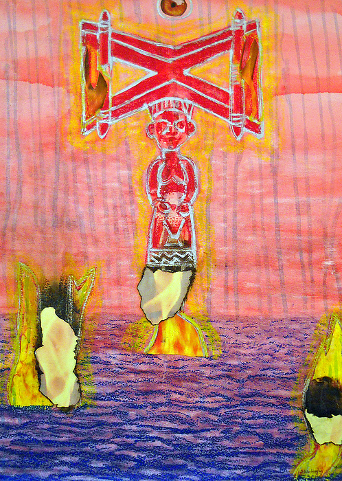 Shango Painting - Shango by Duwayne Washington
