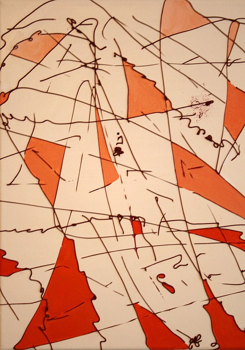Abstract Painting - Shards - Windblown by Jess Fuller