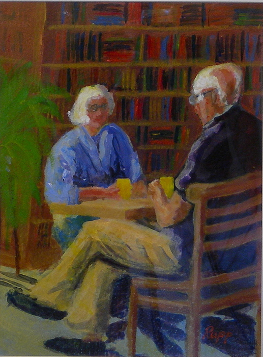 Couple Painting - Sharing by Jan Rapp