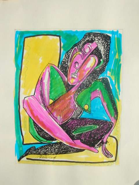 She 3 Sold Mixed Media by Houston Prior