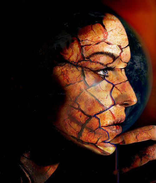 Mother Earth Digital Art - She Cries For The Earth by Day Seriani