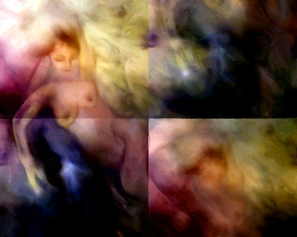 Nebula Painting - She Sleeps She Dreams by Shelley Bain