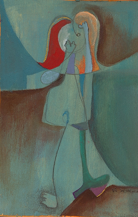 Abstract Painting - She Thinks She Walks On The Moon by Ricky Sencion