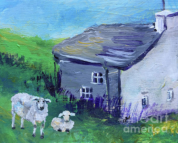 Sheep Painting - Sheep In Scotland  by Claire Bull