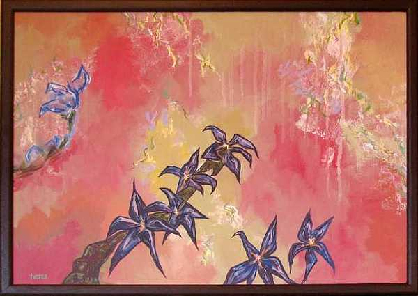 Shelleys Flowers Painting by Laura Tveras