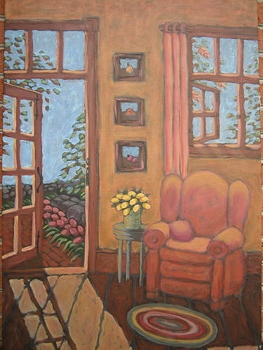 Interior Painting - Shellys Chair by Carl Stevens
