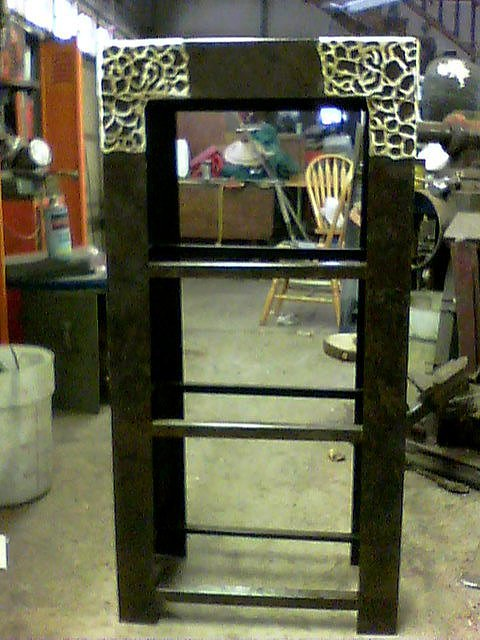 Steel Sculpture - Shelves For Vanity Set by Don Thibodeaux