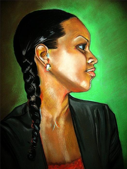 Girl Painting - Sheri by Yxia Olivares