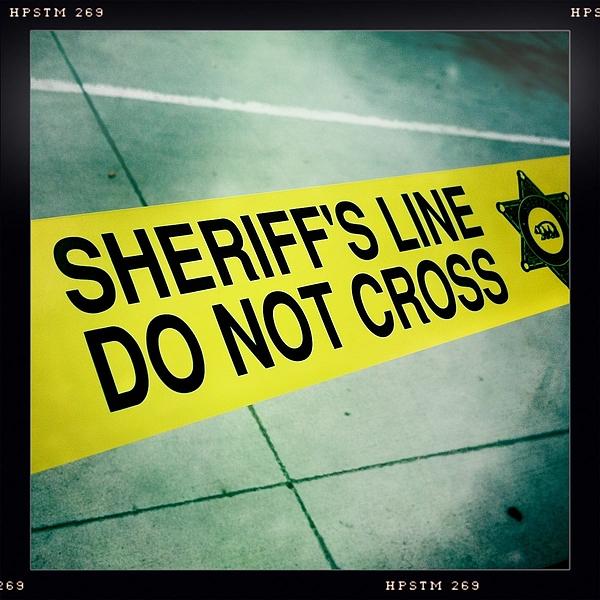 Sheriff's Line Photograph - Sheriffs Line - Do Not Cross by Nina Prommer