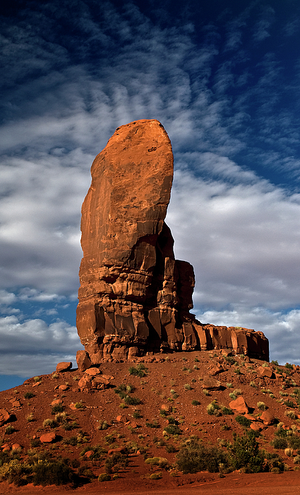 Monument Valley Photograph - Shield Rock by Murray Bloom