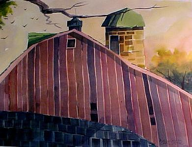 Shiloh Retreat Painting by Charlie Spear
